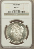Morgan Dollars: , 1880-S $1 MS64 NGC. NGC Census: (51399/46018). PCGS Population(52908/44333). Mintage: 8,900,000. Numismedia Wsl. Price for...
