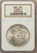 Morgan Dollars: , 1885 $1 MS64 NGC. NGC Census: (29970/11798). PCGS Population(24126/9382). Mintage: 17,787,768. Numismedia Wsl. Price for p...