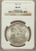 Morgan Dollars: , 1900 $1 MS64 NGC. NGC Census: (13677/4920). PCGS Population(13200/4111). Mintage: 8,830,912. Numismedia Wsl. Price for pro...