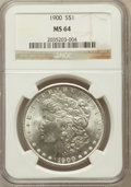 Morgan Dollars: , 1900 $1 MS64 NGC. NGC Census: (13628/4912). PCGS Population(13200/4111). Mintage: 8,830,912. Numismedia Wsl. Price for pro...