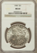 Morgan Dollars: , 1900 $1 MS64 NGC. NGC Census: (13622/4908). PCGS Population(13180/4104). Mintage: 8,830,912. Numismedia Wsl. Price for pro...