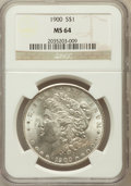 Morgan Dollars: , 1900 $1 MS64 NGC. NGC Census: (13611/4902). PCGS Population(13180/4104). Mintage: 8,830,912. Numismedia Wsl. Price for pro...