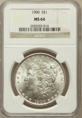 Morgan Dollars: , 1900 $1 MS64 NGC. NGC Census: (13602/4898). PCGS Population(13173/4099). Mintage: 8,830,912. Numismedia Wsl. Price for pro...