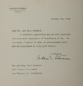 Autographs:Statesmen, Adlai Stevenson, American Politician. Typed Letter Signed. Includesmailing envelope. Accompanied by a copy of Stevenson's b... (Total:2 Items)