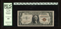 "Small Size:World War II Emergency Notes, Fr. 2300 $1 1935A Hawaii Silver Certificate. PCGS Very Choice New 64.. This Ace is not a ""65"" because one margin is too larg..."