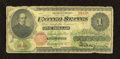 Fr. 17a $1 1862 Legal Tender Very Good. Here is an intact example that has normal edge wear for the grade