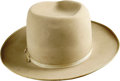 "Movie/TV Memorabilia:Costumes, Franklin D. Roosevelt's Stetson Hat. A handsome Stetson 100 ownedand worn by the late president, with ""Made by Stetson Espe...(Total: 1 Item)"