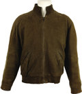 "Movie/TV Memorabilia:Costumes, ""Moonlighting"" Bruce Willis Screen-Worn Jacket. Detective DavidAddison's olive ultra-suede leather jacket with embossed hid...(Total: 1 Item)"