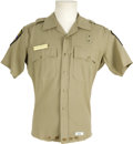 "Movie/TV Memorabilia:Costumes, ""CHiPS"" Erik Estrada Screen-Worn Uniform Shirt. Frank ""Ponch""Poncherello's custom-made California Highway Patrol uniform sh...(Total: 1 Item)"