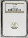 Barber Dimes: , 1911 10C MS65 NGC. NGC Census: (115/51). PCGS Population (104/75).Mintage: 18,870,544. Numismedia Wsl. Price: $510. (#4857...