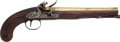 Handguns:Muzzle loading, Brass Barrel Flintlock Pistol by Egg....