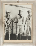 Military & Patriotic:WWI, U.S. Naval Academy Sterling Frame With Photograph of Chester Nimitzas a Midshipman....
