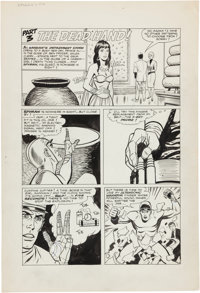 "George Tuska Spyman #4 Complete Unpublished 5-page Story Chapter ""The Dead Hand"" Original Art (Harvey, c"