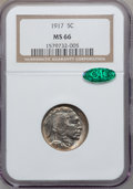 Buffalo Nickels, 1917 5C MS66 NGC. CAC....