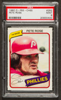 Baseball Cards:Singles (1970-Now), 1980 O-Pee-Chee Pete Rose #282 PSA Mint 9 - Only Three Higher. ...