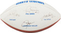 Football Collectibles:Balls, New York Giants Legends Multi Signed Football....