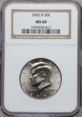 Kennedy Half Dollars, 2002-D 50C MS69 NGC....