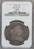 Early Dollars, 1799 $1 7x6 Stars VG8 NGC. B-11, BB-161, R.3....
