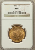 Indian Eagles, 1910 $10 MS63 NGC....