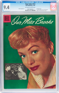 Four Color #751 Our Miss Brooks (Dell, 1956) CGC NM 9.4 Off-white to white pages