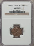 Lincoln Cents, 1955 1C Doubled Die Obverse AU55 NGC. FS-101....