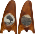 Military & Patriotic:WWI, Pair of Matched WWI Propeller Tip Picture Frames.... (Total: 2Items)