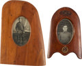 Military & Patriotic:WWI, Pair of WWI Royal Flying Corps Propeller Tip Picture Frames....(Total: 2 Items)