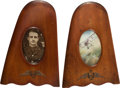 Military & Patriotic:WWI, Matched Pair of Royal Flying Corps Propeller Tip Picture Frames....(Total: 2 Items)