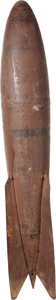 Military & Patriotic:WWI, WWI Mark III Aerial Bomb in Original Configuration [Inert]....