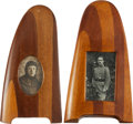 Military & Patriotic:WWI, Pair of WWI Propeller Tip Picture Frames.... (Total: 2 Items)