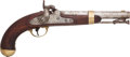 Handguns:Muzzle loading, U.S. I.N. Johnson Model 1842 Single-Shot Percussion Pistol....