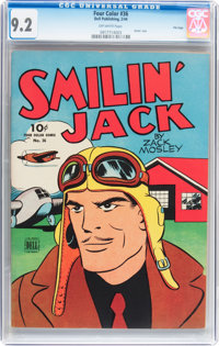 Four Color #36 Smilin' Jack - File Copy (Dell, 1944) CGC NM- 9.2 Off-white pages