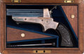 Handguns:Derringer, Palm, Cased Tipping & Lawden Sharp's Derringer with LondonAddress....