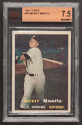 Baseball Cards:Singles (1950-1959), 1957 Topps Mickey Mantle #95 BVG NM+ 7.5....