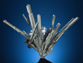 Minerals:Cabinet Specimens, STIBNITE. Lushi Mine, Lushi Co., Sanmenxia Prefecture, HenanProv., China. ...