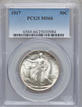 Walking Liberty Half Dollars, 1917 50C MS66 PCGS....