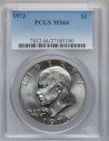 Eisenhower Dollars, 1973 $1 MS66 PCGS....