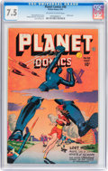 Golden Age (1938-1955):Science Fiction, Planet Comics #48 (Fiction House, 1947) CGC VF- 7.5 Off-white towhite pages....