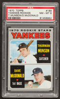 Baseball Cards:Singles (1970-Now), 1970 Topps Yankees Thurman Munson Rookie #189 PSA NM-MT 8. ...