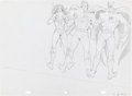 Animation Art:Production Drawing, Wayne Boring (attributed) Wonder Woman Superman Batman PopsicleAnimation Production Drawing Original Art (c.. 1986)....