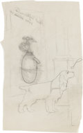 Original Comic Art:Miscellaneous, Edgar Church Preliminary Dog Illustration Original Art(undated)....