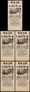 "Movie Posters:Sports, Roar of the Crowd (Norman, 1953). Mini Window Cards (5) (6"" X 12.5""). Sports.. ... (Total: 5 Items)"