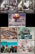 "Movie Posters:War, Patton & Other Lot (20th Century Fox, 1970). Lobby Cards (7)(11"" X 14""). War.. ... (Total: 7 Items)"