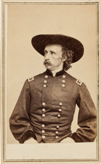 Exceptional Brady & Anthony Civil War Carte de Visite of Brig. Gen. George Armstrong Custer