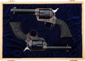 Handguns:Single Action Revolver, Cased Pair of Colt Second Generation Single Action Army Single Action Revolvers.... (Total: 2 Items)