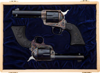 Cased Pair of Colt Second Generation Single Action Army Single Action Revolvers