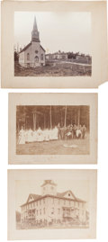 Photography:Cabinet Photos, Indian Mission at Wittenberg, Wisconsin: Three Large-Format Photos, Circa 1890. ... (Total: 3 Items)