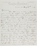 Autographs:Celebrities, [James-Younger Gang]. John Reid Autograph Letter Signed...