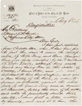 Autographs:Celebrities, [James-Younger Gang]. James McDonough Autograph Letter Signed....