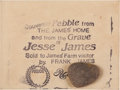 Miscellaneous, Jesse and Frank James: A Wonderful Early Souvenir from the JamesFarm. ...